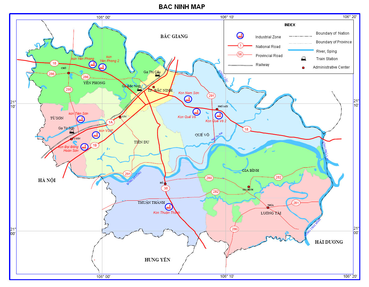 Bac Ninh Map