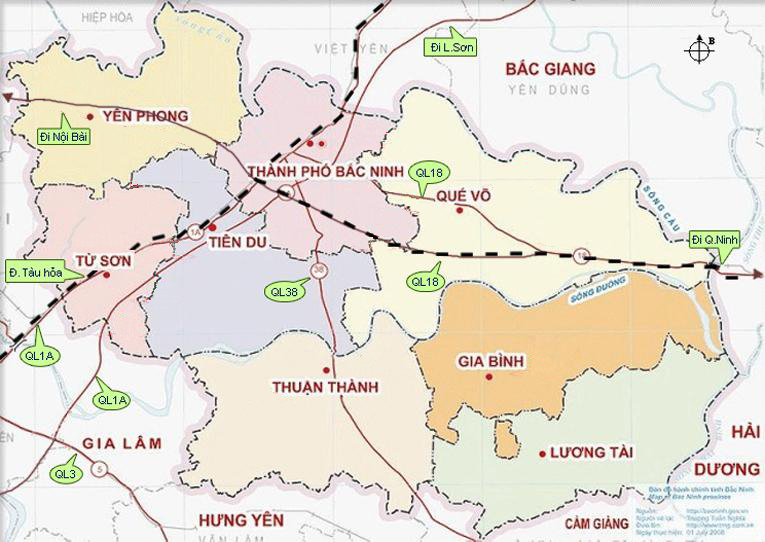 Industrial Zone Bac NInh Map